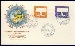 DV9-49 SAARLAND 1957 FDC EUROPE CEPT. - 1957
