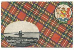 The Seat Of The Stewarts Of Appin - : Castle Stalker - Clan Stewart - Cpa - Nv -blason- Ed Valentines Artotype Série - Argyllshire