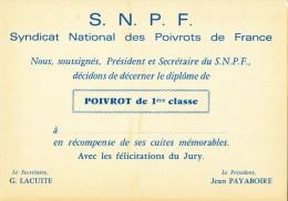 CP S. N. P. F. (Syndicat National Des Poivrots De France) - Humor