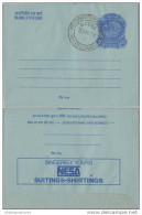 India Inland Letter Advertisement Postal Stationery , Nesa Suitings & Shirtings, Textiles,  Inde, Indien - Textiel