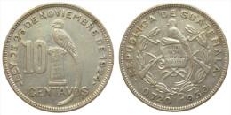 10 Centavos 1936 (Guatemala) Silver - Guatemala