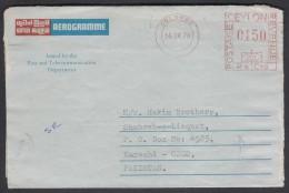CEYLON Postal History Cover Aerogramme Meter Franking Used From COLOMBO 14.9.1978 - Sri Lanka (Ceylon) (1948-...)