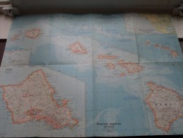 HAWAII U.S. ( Atlas Plate 15 National Geographic ) Scale : 5,068,800 Or 80 Miles To The Inch / Anno 1960 ! - World