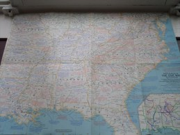 The CIVIL WAR Battlefields ( Atlas Plate 14 National Geographic ) Scale : 2,851,200 Or 45 Miles To The Inch / 1961 ! - World