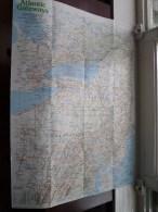 ATLANTIC GATEWAYS ( Supplement National Geographic ) Scale : 1,318,000 / 1983 ! - Monde