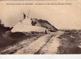 Batz.. Batz-sur-Mer.. Animée..Un Mulon De Sel.. Marais Salant.. Du Pouliguen Au Croisic - Batz-sur-Mer (Bourg De B.)