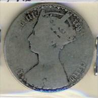 MONNAIE ANGLAISE   VICTORIA  JEUNE # 1/2 HALF DEMI FARTHING  #FLORIN  ARGENT - 1816-1901 : Frappes XIX° S.