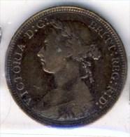 MONNAIE ANGLAISE   VICTORIA  TETE JEUNE 1890 #  1/2  HALF DEMI PENNY # - 1816-1901 : Frappes XIX° S.
