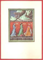 CARTOLINA VG ITALIA - DIVINA COMMEDIA - Dante Alighieri - Purgatorio XXVI - Biblioteca Vaticana - 10 X 15 - ANNULLO 1974 - Pittura & Quadri