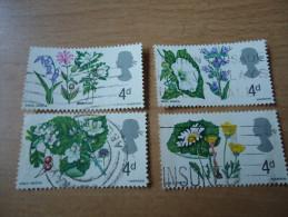 Großbritannien: 4 Werte Blumen - 1952-.... (Elisabeth II.)