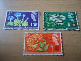 Großbritannien: 3 Werte Botanischer Kongreß 1964 - 1952-.... (Elisabeth II.)