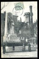 Cpa Du 38 Monument Et Tour De Château De Bourgoin    TRIS6 - Bourgoin
