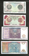 [NC] UZBEKISTAN - 1 / 3 / 5 / 10 SUM (1994) LOT Of 4 DIFFERENT BANKNOTES - Uzbekistan