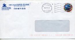 Pap Coupe Du Monde  Flamme Muette Paris Entete Ambulance Sainte Elodie - Prêts-à-poster:  Autres (1995-...)