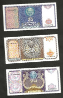 [NC] UZBEKISTAN - 25 / 50 / 100 SUM (1994) - LOT Of 3 DIFFERENT BANKNOTES - Uzbekistan