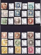 Lot 4 Karten Mit 36 Gestempelten Marken Von Mi.# 1 A Bis 48 B - Katalog + 10.000 € - Portugal