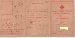 CARTE CROIX ROUGE FRANCAISE-UNION DES FEMMES DE FRANCE 1938 - Mappe
