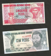[NC] GUINEA - BISSAU - 50 / 100 PESOS (1990) - LOT Of 2 DIFFERENT BANKNOTES - Guinea–Bissau