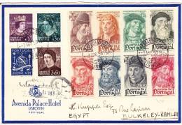 Portugal  Brief 3.4.1950 Von Lisboa Nach Egypten Flug Transit Und Ankunfts Stempeln - Lettres & Documents