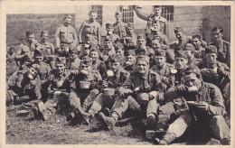Czech Soldiers At Meal Time , 20-30s ; NASE VOJSKO , Nejprijemnejsi Utok - Manovre