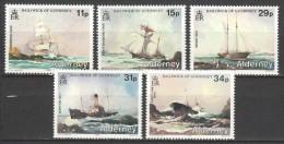 Alderney 1987 Mi 32-36 MNH SHIPS - Boten