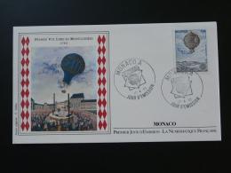 Montgolfiere Balloon FDC Monaco Numismatique 1983 - Montgolfières