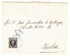 "Spanien - Brief  ""Congresso De Los Diputados""  08-1898 Mit Kriegssteuermarke Nach Huelva - Lettres & Documents"