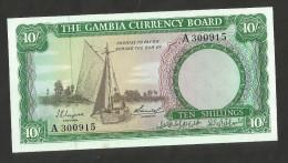 [NC] GAMBIA CURRENCY BOARD - 10 SHILLINGS (1965 - 1970) - Gambia