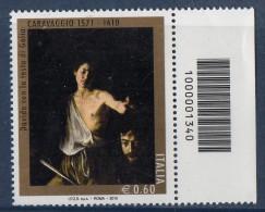 PIA  -  ITALIA  -  2010  : SPECIAL.  -  CODICE A BARRE : 400° Della Morte Del Caravaggio   -  (SAS 3185 - CAR 2836) - 6. 1946-.. Republic