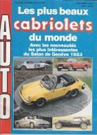 """AUTO Revue """"Les Plus Beaux Cabriolets Du Monde"""" N°4, 1983, Porsche 911 SC, Peugeot 504, Isdera Spyder, Excalibur, Lotus - Auto/Moto"""