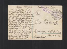 AK Genf  Weggis Kriegsgefangenen Internierung 1916 - Vrijstelling Van Portkosten