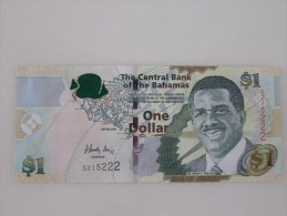 2008 The Central Bank Of The Bahamas,1 Dollar, Last 3 Serial Number Specially With 222 - Bahamas