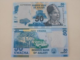 2012 Reserve Bank Of Malawi,50 Kwacha, Last 3 Serial Number Specially With 444 - Malawi