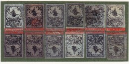 Türkei - TOUGHRA Ausgabe Mi.#2/II 1862/64 1Pia Schwarz Auf Lila (x12) -  11 * + 1 Gestempelt - 1858-1921 Ottoman Empire
