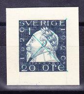 Schweden - Probedruck Gustav II Adolf 20 Öre Auf Weißem Kartonpapier Von Der Karl Bickel Archiv - Essais & Réimpressions