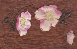 Silk Flowers , Wooden Postcard , 00-10s - Altri
