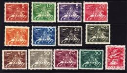 Schweden - 1924 - 50 J. UPU Mi.# 159 - 170 172 Alle * - (13 Werte Auf 15) - Suède