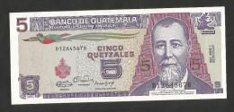 [NC] GUATEMALA - BANCO De GUATEMALA - 5 QUETZALES (1990) - Guatemala