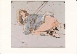CPSM FEMME FESSES NUES VENTOUSES PETER SENGL 1980 TALONS FLECHES COMME UN TAUREAU - Paintings