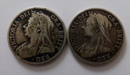 LOT 2 MONNAIES ARGENT SILVER A DEFINIR - Great Britain