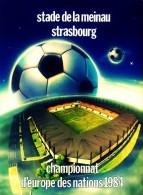 CARTEL AFFICHE REPRODUCTION - EURO CUP 84 SIZE:22X16 CM. APROX. - Afiches