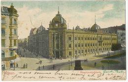 Poznan Posen  Hauptpostegebaude  P. Used Posen 1904 To Fretigny Haute Saone Edit Michaelis - Pologne