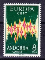 Span. Andorra Mi.#71 ** Europa - Poste Aérienne