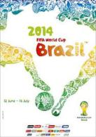 CARTEL AFFICHE REPRODUCTION - WORLD CUP BRASIL 2014 SIZE:30X40 CM. APROX. - Afiches