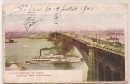 St. LOUIS - EADS BRIDGE - 1904 POSTCARD Sent From WORLD´S FAIR ST. LOUIS To TURNHOUT, BELGIUM - St Louis – Missouri