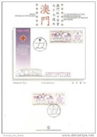 Macau 1997 77th Anniversary Of Macau´s Red Cross On Presentation Page - 1999-... Chinese Admnistrative Region