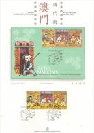 Macau 1997 Martial Arts On Presentation Page - 1999-... Chinese Admnistrative Region