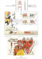 Macau 1998 Chinese Masks Opera Mini Sheet On Presentation Page - 1999-... Chinese Admnistrative Region