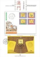 Macau 1998 Civil & Military Emblems II Mini Sheet On Presentation Page - 1999-... Chinese Admnistrative Region