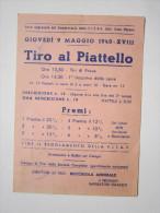 Cartolina TIRO AL PIATTELLO 1940 - F.I.T.A.V. Direttore Di Tiro: Bocchiola Annibale. Presidente:Imperatori Ignazio - Non Classificati